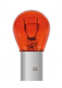 12V Red Dyed Glass, Lampada 2 filamenti - (P21/5W) - 21/5W - BAY15d - 2 pz  - D/Blister