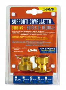 Kit supporti cavalletto - 6/8 mm - Oro